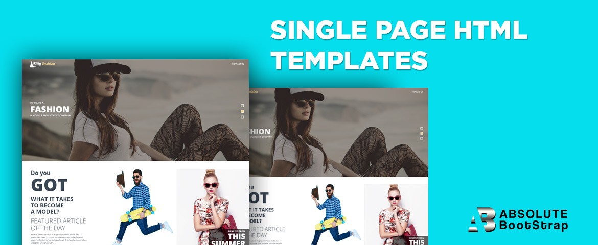Single page html templates